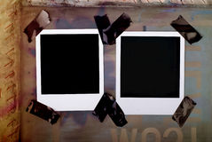 Blank polaroid frames Royalty Free Stock Photo