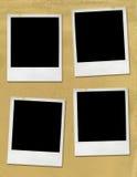Blank Polaroid pictures Stock Image
