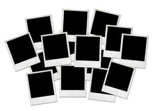 Blank Polaroid pictures Stock Photography