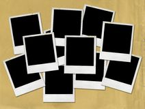 Blank Polaroid pictures Royalty Free Stock Photos