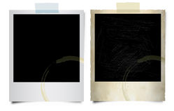 Blank polaroids. Illustration of two polaroid blanks Royalty Free Stock Image
