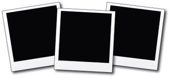 Blank polaroids Royalty Free Stock Image