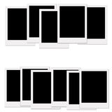 Blank  polaroids. Blank of picture borders  and polaroids Royalty Free Stock Image