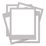 Blank Polaroids. Blank Polaroid Instamatic photos Royalty Free Stock Image