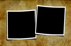 Blank Polaroids on Grungy Background Royalty Free Stock Photography