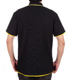 Blank polo shirt (back side) on man Stock Images