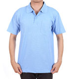 Blank polo shirt on man Stock Photo