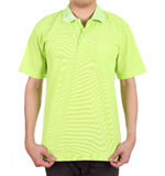 Blank polo shirt on man Stock Photography