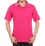 Blank polo shirt on man Royalty Free Stock Photo
