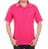 Blank polo shirt on man Royalty Free Stock Photo