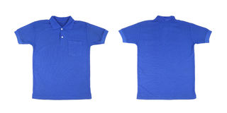 Blank polo shirt set (front, back) Royalty Free Stock Photo