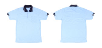 Blank polo shirt set (front, back) Royalty Free Stock Photography