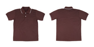 Blank polo shirt set (front, back) Stock Photo