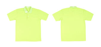 Blank polo shirt set (front, back) Stock Photography