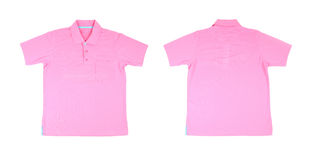 Blank polo shirt set (front, back) Royalty Free Stock Image