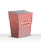 Blank Popcorn box. Blank Popcorn on white with soft shadow royalty free illustration