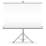 Blank portable projection screen Royalty Free Stock Photography
