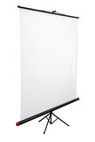 Blank portable projector screen Royalty Free Stock Photo