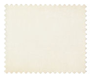 Blank post aged stamp isolated on white. Royalty Free Stock Photos