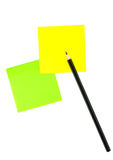 Blank post-its Stock Photography