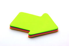 Blank post its. Colored post its isolated on a white background Royalty Free Stock Images