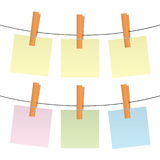 Blank Post-its Royalty Free Stock Photos