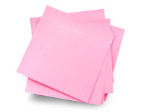Blank post-it memo stack Royalty Free Stock Photo