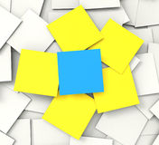 Blank Post it Messages Shows Copyspace To Do And Note. Blank Post it Messages Showing Copyspace To Do And Note Royalty Free Stock Image