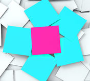 Blank Post it Messages Shows Copyspace To Do And Note Stock Photo