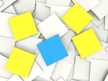 Blank Post it Messages Shows Copyspace To Do And Notices Royalty Free Stock Photo