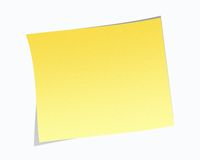 Blank Post-it Note. A Blank Post-it Note with shadow- illustration Stock Photos