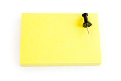 Blank post-it note on white. Background design. blank yellow post-it note on white Royalty Free Stock Images