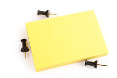 Blank post-it note on white. Background design. blank yellow post-it note on white Stock Images