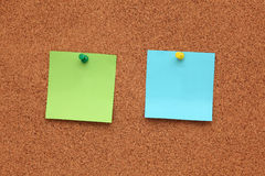 Blank Post-it Notes Royalty Free Stock Photos