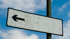 Blank Post Sign Royalty Free Stock Photography