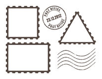 Post stamp illustration. Blank post stamps, vector illustration Stock Images