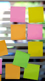 Blank post it on the wall Stock Photography