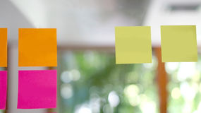 Blank post it on the wall Royalty Free Stock Image