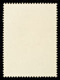 Blank Postage Stamp. Blank Rear of Postage Stamp Framed by Black Border Royalty Free Stock Photo