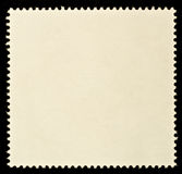 Blank Postage Stamp. Framed by Black Border Stock Photos