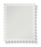 Blank postage stamp. Blank postal stamp with soft shadow on white background, add your own design stock illustration
