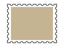 Blank postage stamp Stock Photos
