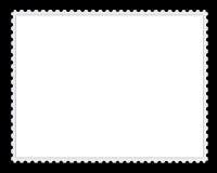 Blank Postage Stamp Background stock illustration