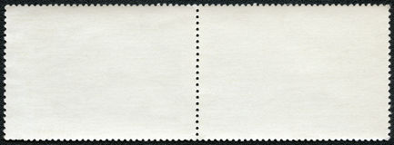 Blank postage stamp block Royalty Free Stock Images