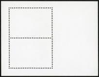 Blank postage stamp block Stock Photo