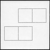 Blank postage stamp block Royalty Free Stock Photos