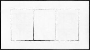 Blank postage stamp block Royalty Free Stock Image