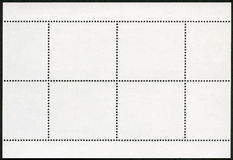 Blank postage stamp block souvenir sheet on a black background Royalty Free Stock Photo