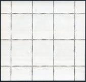 Blank postage stamp block souvenir sheet on a black background Stock Photography