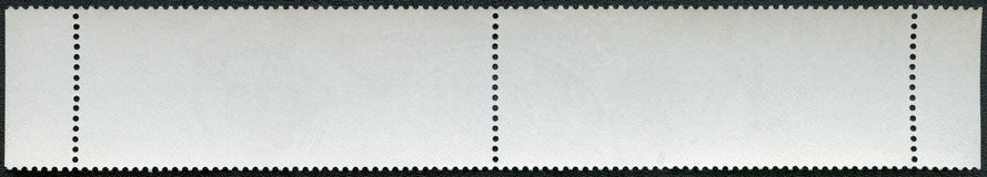 Blank postage stamp block souvenir sheet on a black background Stock Photography